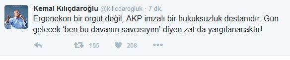 Kılıçdaroğlu 'yargılanacaklar' dedi.