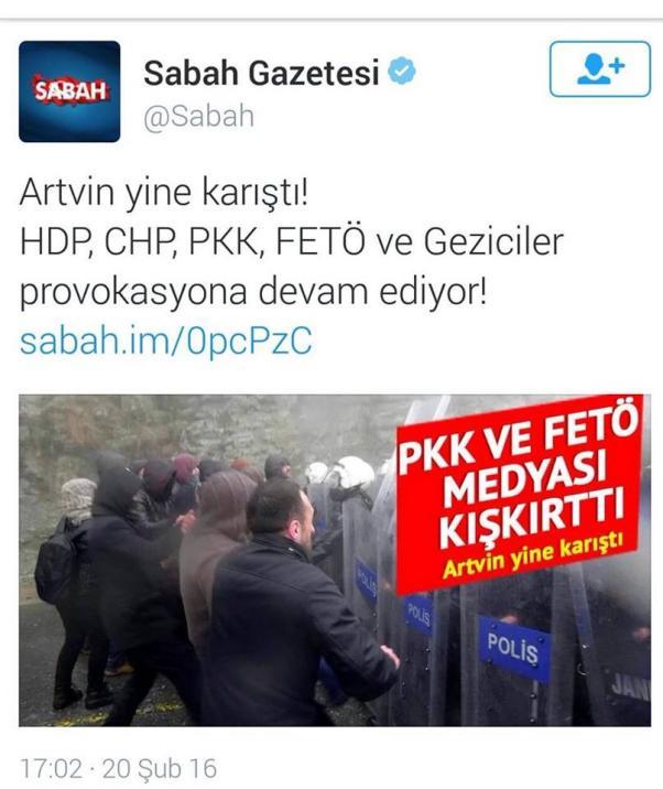 AKP yayını kışkırtmaya devam ediyor.