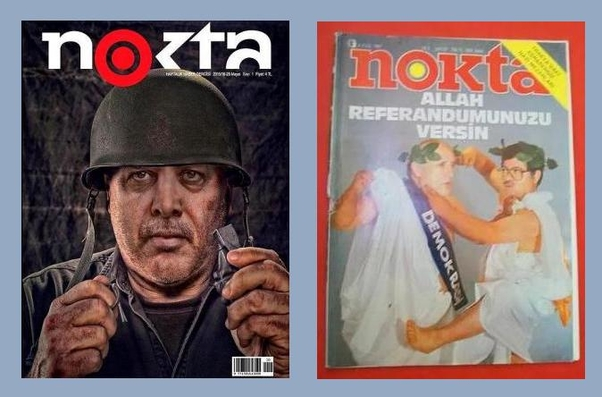 It's not new that Nokta Magazine produce those kind of cover...