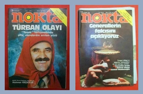 Les couvertures en photo-montage du magazine Nokta.