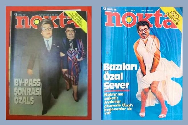 It is not new that the Nokta magazine produced the covers photomontage, and has never been a prosecution issue, even at the coup period in 1980.