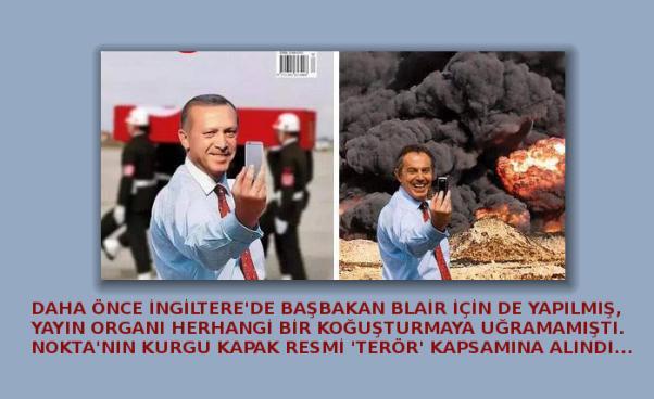 La photo-montage avait été déjà produite pour l'ex-premier ministre d'Angleterre, M. Blair.