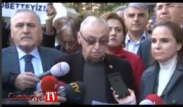 Orhan Erinç Cumhuriyet'in kamuoyuna açıklamasını okudu.