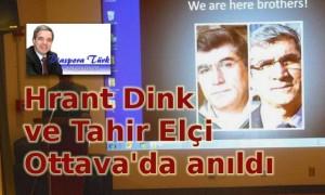 Hrant Dink ve Tahir Elçi Anıldı