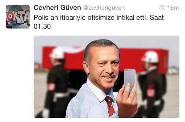 M. Güven's tweet...