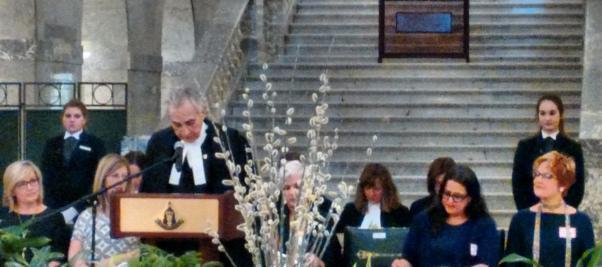 Alberta Meclis Başkanı'nın konuşması.
