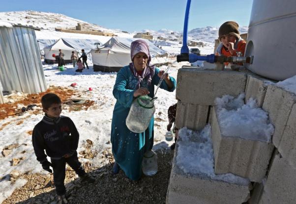 Les réfugiés syriens...