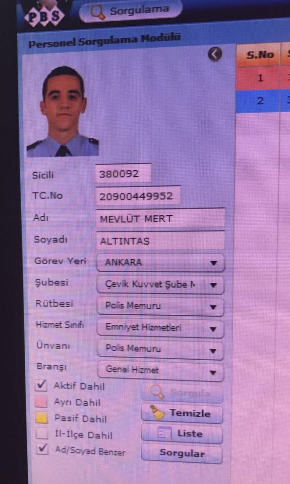 Saldırgan polisin kimliği.