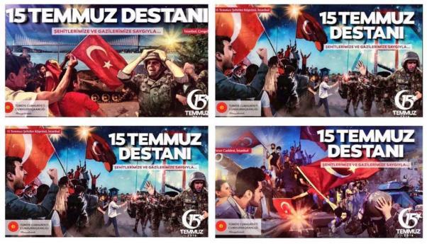 Türk askerini rencide eden afişlerin kaldırılması istendi.