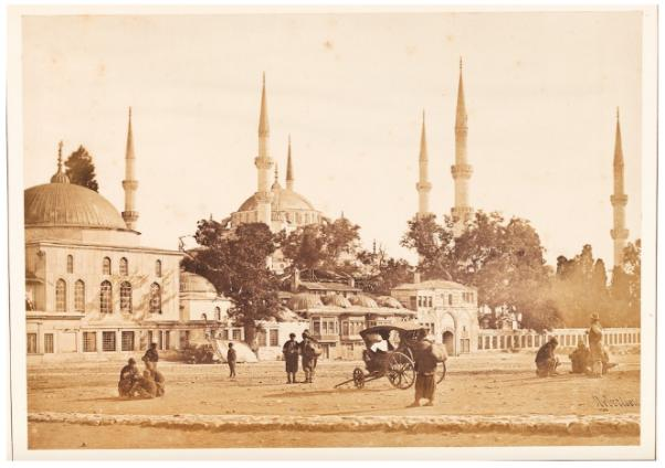 Sultan Ahmed Mosque and the Hippodrome / James Robertson, 1854 / Salted paper print mounted on card Ömer M. Koç, Özel koleksiyon