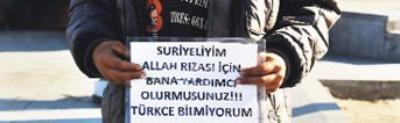 Suriyeliyim, Türkçe bilmiyorum.