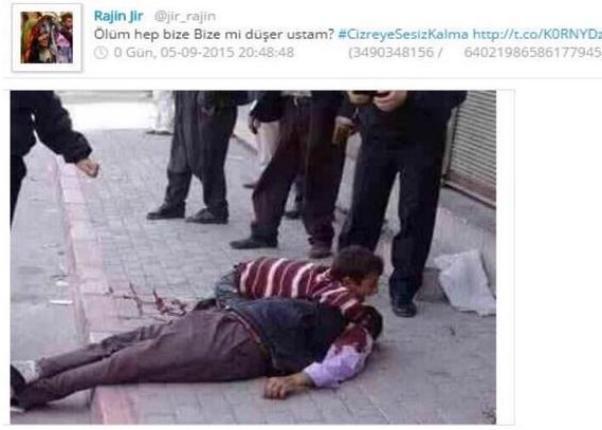Birkaç yıl önce Tarsus'ta gerçekleşen kan davası cinayeti Cizre için kullanıldı.