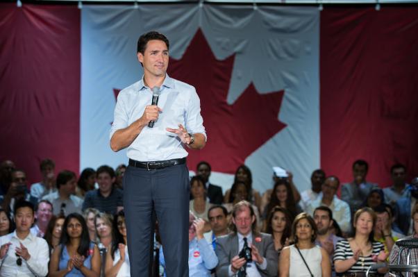 Trudeau, deuxième plus jeune premier ministre du Canada après Joe Clark.