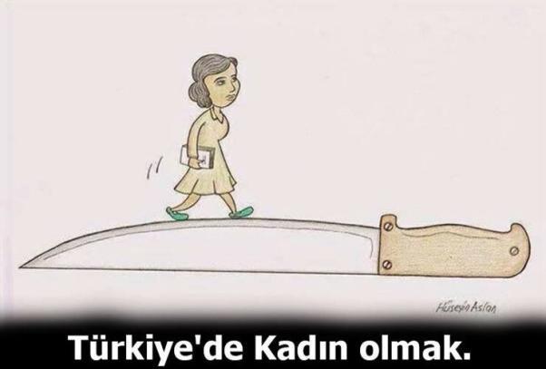Türkiye'de kadın olmak...