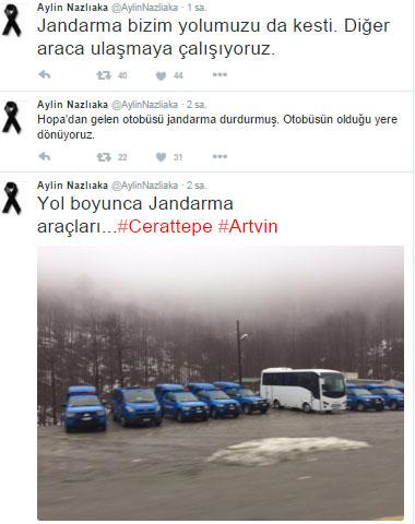 Milletvekili Nazlıaka Artvinlilerle dayanışmada.
