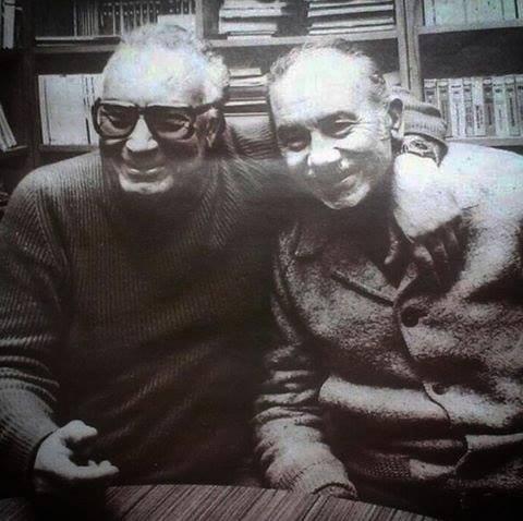 Vedat Türkali Yaşar Kemal ile birlikte.