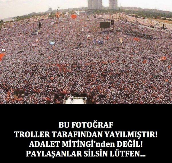 Yandaş eski bir AKP fotoğrafıyla yanıltmak istedi... Kimse aldanmadı...