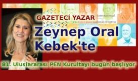 Yazar Zeynep Oral Kebek'te