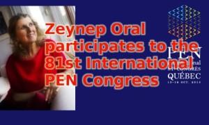 Z. Oral participates to the 81st International PEN Congress